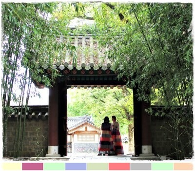 Gyeonggi-Jeon en la aldea antigua de Jeonju, Corea del sur
