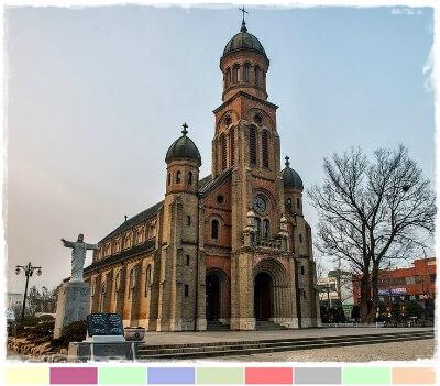Iglesia catedral Jeondong en Jeonju, Corea del sur