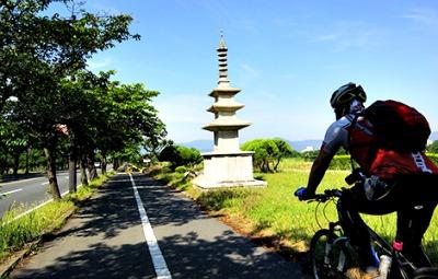 Recorrido de bici en Gyeongju, Corea