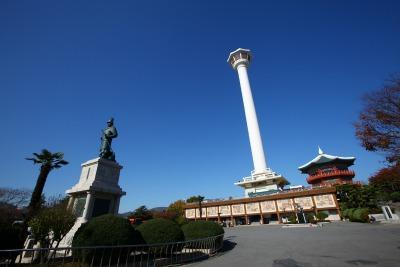 La torre Busan en el monte Yongdu