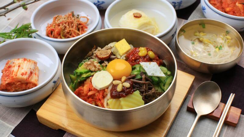 Bibimbap en Jeonju, Corea del sur